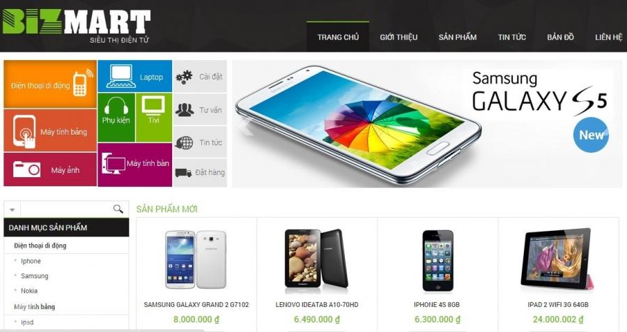 Thiết kế web  bán điện thoại uy tín