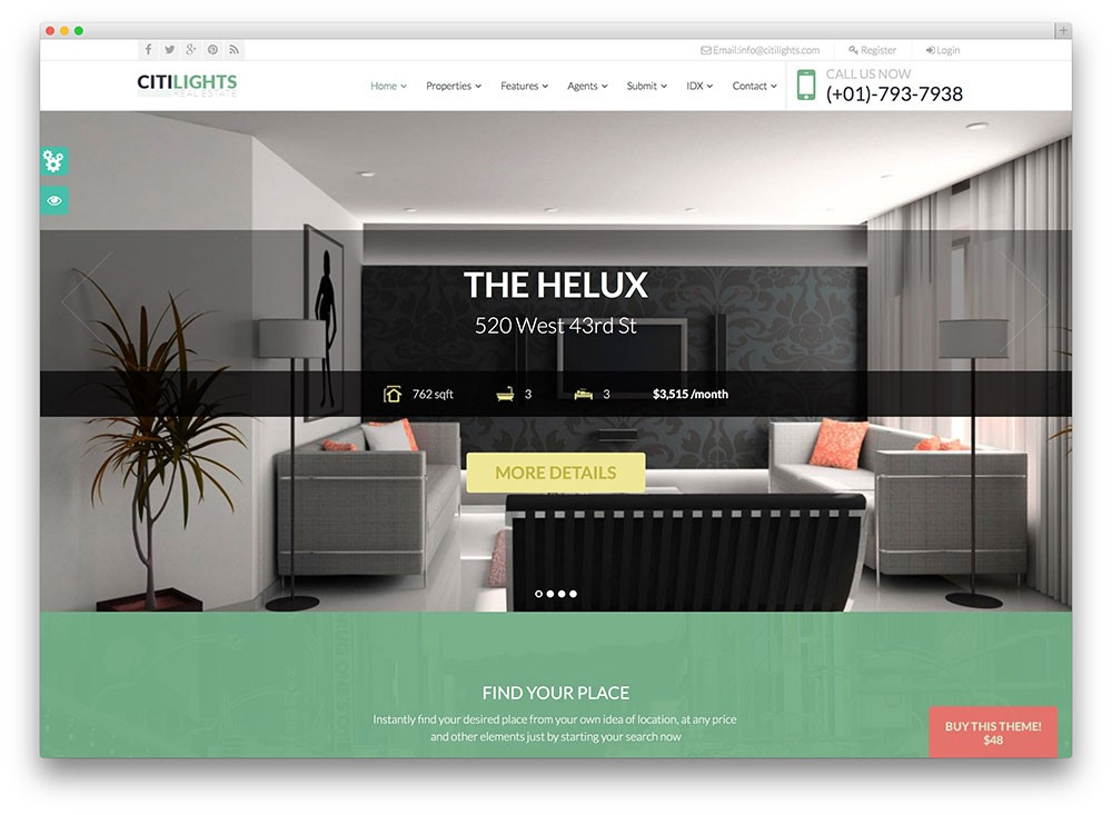 giao diện web bất động sản 2020